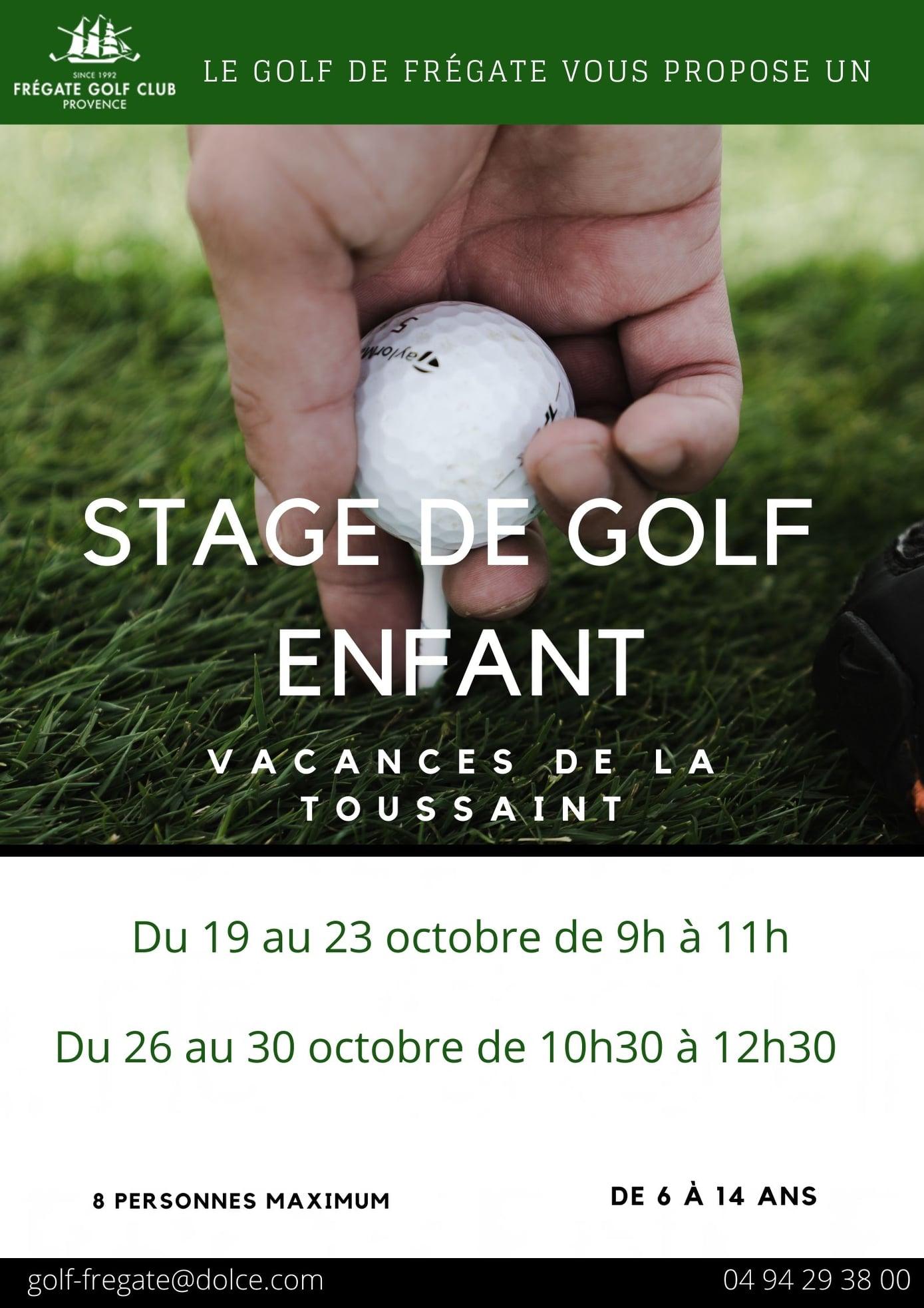 Stages de Golf pour les enfants à la Toussaint